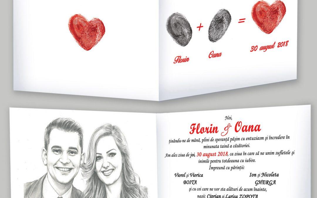 Invitatie de  nunta cu amprenta